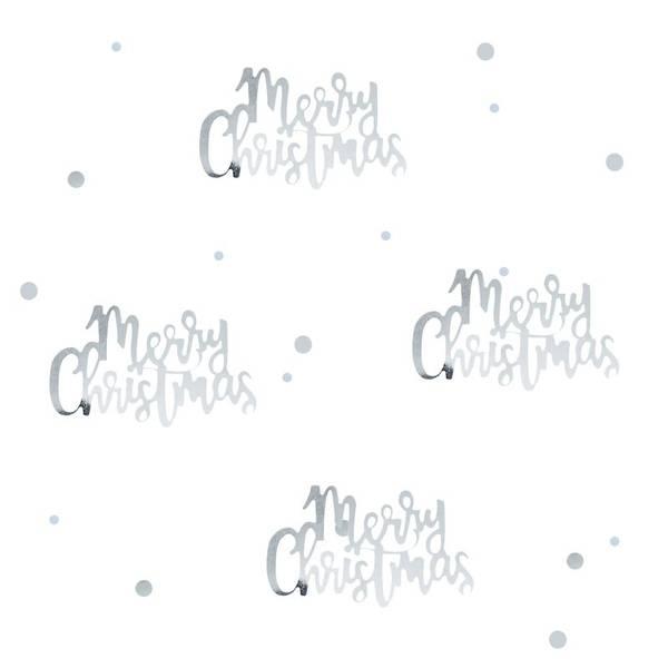 Bilde av KONFETTI - Merry Christmas - Silver Christmas