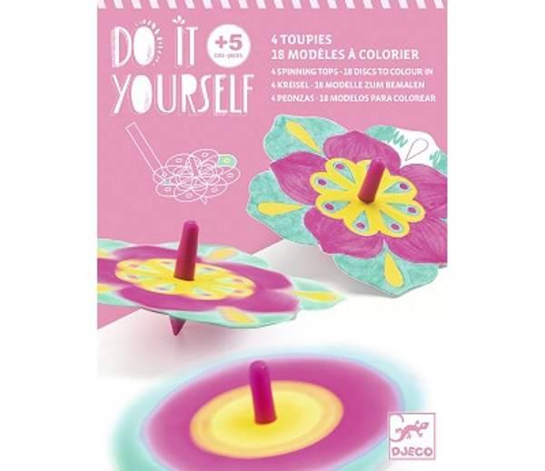 Bilde av HOBBYSETT - Lag Snurrebasser med Blomster - Djeco