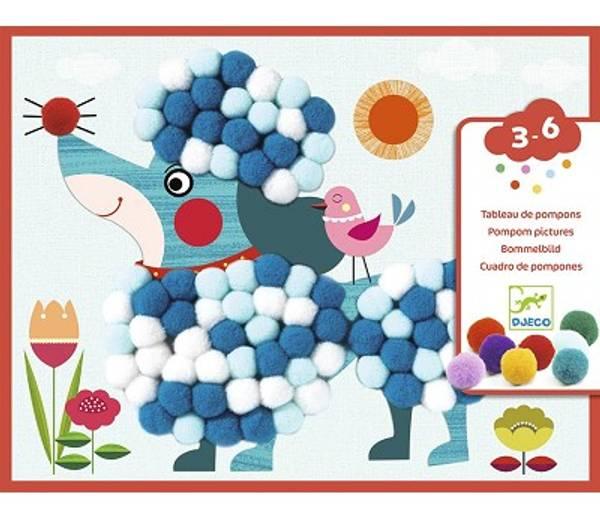 Bilde av HOBBYSETT - Pynt Hunder Med Pom Poms - Djeco