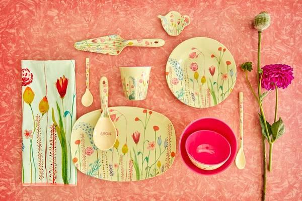 Bilde av LITEN BOLLE - Summer Flowers Print  - Rice