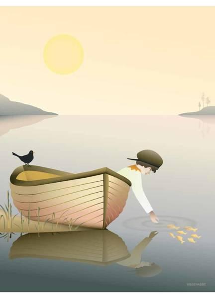 Bilde av PLAKAT - Boy in a Boat - Vissevasse