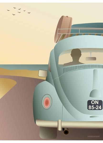 Bilde av PLAKAT - VW Beetle - Vissevasse