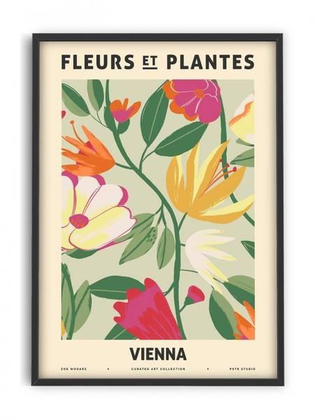 Bilde av PLAKAT - Zoe - Fleurs et Plantes - Vienna - 50x70