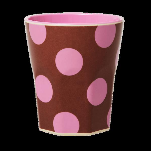 Bilde av STOR KOPP - Soft Pink Dots - Rice