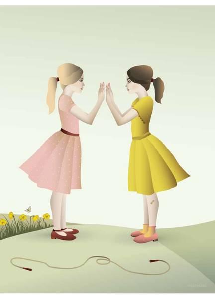 Bilde av PLAKAT - Hand Clapping Girls - Vissevasse